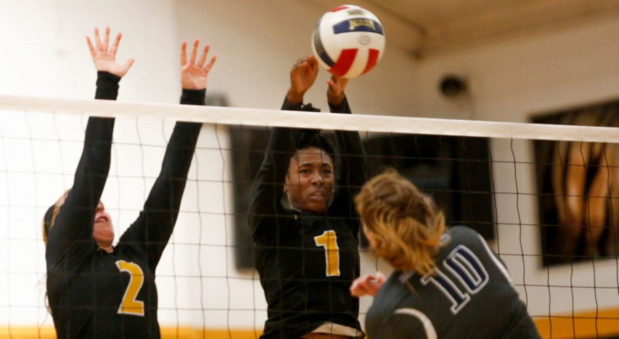 Photo for Volleyball Splits in SSAC Road Play